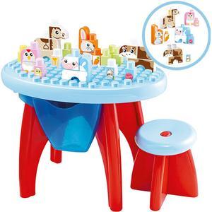 Ecoiffier Abrick Maxi Spiel- und Lerntisch mit Tierbausteinen [Kinderspielzeug]